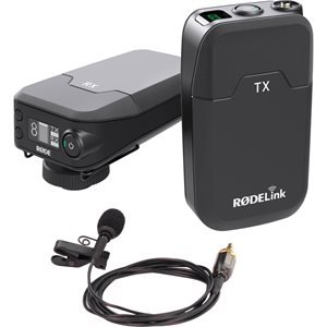 RØDELink Wireless kit - Consists of TX-Belt, RX-Cam, Lavalier mic and captive TRS cable