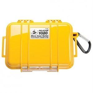 PELICAN # 1020 MICRO CASE - YELLOW WITH BLACK
